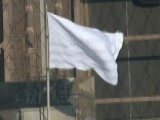 Mysterious White Flags Fly Above Brooklyn Bridge