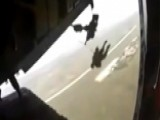 Mid-air Scare: Mexican Army Paratrooper Dragged Behind Plane