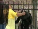 Mom Slaps Son After Seeing Him Throwing Rocks At Police