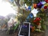 Makeshift Memorial Assembled In Front Of WDBJ TV Station