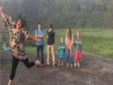 Mom Jumps For Joy While Sending Kids Back To School