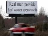 Mysterious 'women Appreciate' Billboard Stokes Outrage