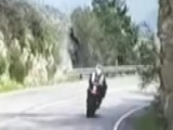 Motorcycle Flips Over Cliff In Scary Crash Caught On Tape