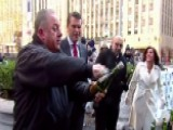 Man Attempts To Break Champagne Bottle Sabering Record