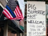 Missouri Antique Shop Harassed Over Pro-police Flag