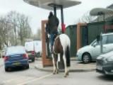 Man Denied McDonald's For Horsing Around?