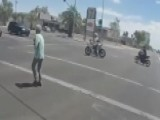 Motorcyclists Stop Traffic To Help Woman Cross Street