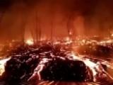 Molten Lava Explodes Barrel Of Gasoline Outside Hawaii Home