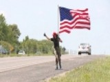 Military Veteran Goes On Patriotic Run With American Flag