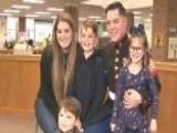 Marine Sergeant Surprises His Kids At Their School