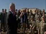 Mattis Meets With Troops At Border As Caravan Closes In