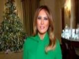 Melania Trump Gives Tour Of White House Christmas Decor