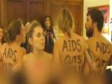Naked Protesters Storm House Speaker's Office In D.C