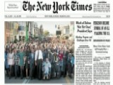NY Times Crops George W. Bush Out Of Selma March Cover
