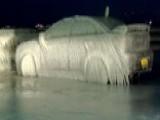 New York Arctic Blast Freezes Car To Parking Spot