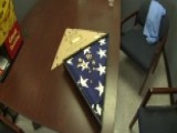 Navy Veteran Returns Burial Flag To Fallen Hero's Widow