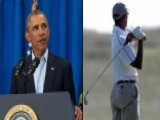 Obama Hits Golf Course After Addressing Journalist's Death