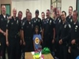 Officers Take Daughter Of Fallen Cop To School