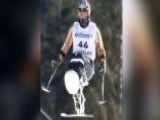 Paraplegic Skier Lands Back Flip
