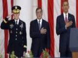 President Obama Delivers Remarks At Arlington Cemetery