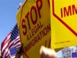 Protesters Rally To Block Plans To House Illegal Immigrants