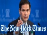 Power Play: The Times-Rubio Tussle, In 60 Seconds