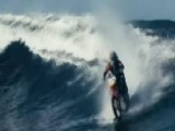 Pipe Dream: Daredevil Rides The Waves On His Motorbike