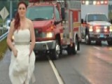 Paramedic Bride Helps Family After Car Wreck