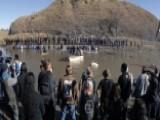 Protestors And Police Clash At Dakota Pipeline Protest