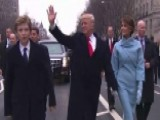 President Donald Trump Greets Supporters Along Parade Route