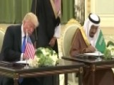 President Trump And Saudi King Salman Sign Agreements