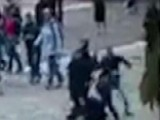 Paris Hammer Attack Caught On Surveillance Video