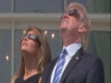 President Trump, First Lady Watch Eclipse From White House