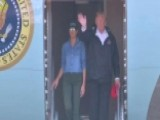 President Trump And First Lady Return To Houston, Texas
