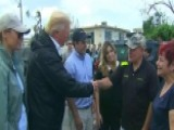 President Trump Meets With Hurricane Victims In Puerto Rico