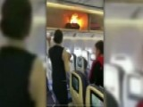 Power Bank Catches Fire In Airplane Overhead Bin