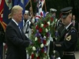 President Trump Lays Wreath At Tomb Of The Unknown Soldier
