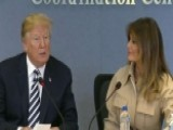 President Trump Commends First Lady At FEMA Briefing