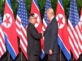 President Trump And Kim Shake Hands On Landmark Agreement