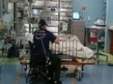 Paramedic Stays By Girl's Side In Hospital