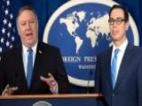 Pompeo, Mnuchin Detail New Iran Sanctions