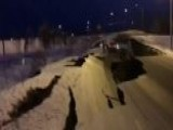 Powerful Quake Destroys Road In Anchorage, Alaska