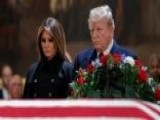 President Trump, First Lady Pay Respects To George H.W. Bush