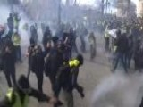 Police Fire Tear Gas On Protesters In Paris