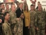 President Trump And First Lady Melania Trump Makes Surprise Visit To US Troops And Senior Military Leadership In Iraq