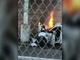 Philadelphia Police Officer Pulled From Burning Cruiser