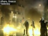 Rioters Clash With Police In Greece