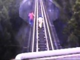 Raw Video: Women Flee Approaching Freight Train