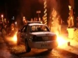 Rioters Torch Cop Car 44 Arrested Overnight In Ferguson