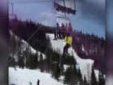 Riders Forced To Jump After Ski Lift Is Thrown Into Reverse
